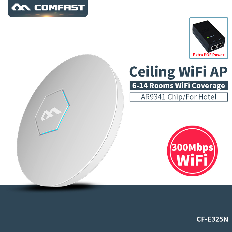 Ceiling ap router Comfast CF-E325N 300M Wireless wifi router extender 2.4G Router Amplifier wifi access point WiFi Roteador ceiling ap router comfast cf e325n 300m wireless wifi router extender 2 4g router amplifier wifi access point wifi roteador