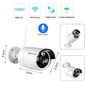 "Image 3 - Techage 2 1 4ch 1080 p 12 ""lcd 무선 nvr wifi cctv 시스템 야외 2mp 오디오 레코드 사운드 카메라 p2p 비디오 감시 키트"