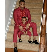 H&D african men kid boy clothing  mens dashiki shirt africa bazin riche outfit clothes tops pant suits vetement africain
