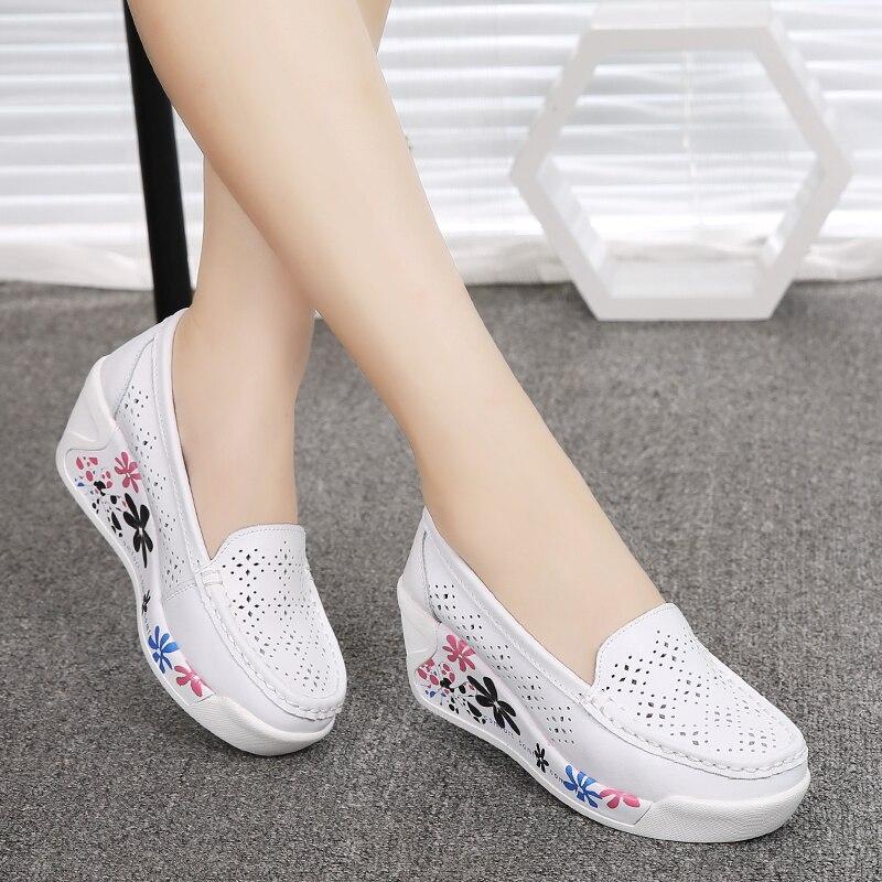 Zapatos de la enfermera de la plataforma 2016 de las mujeres del - Zapatos de mujer