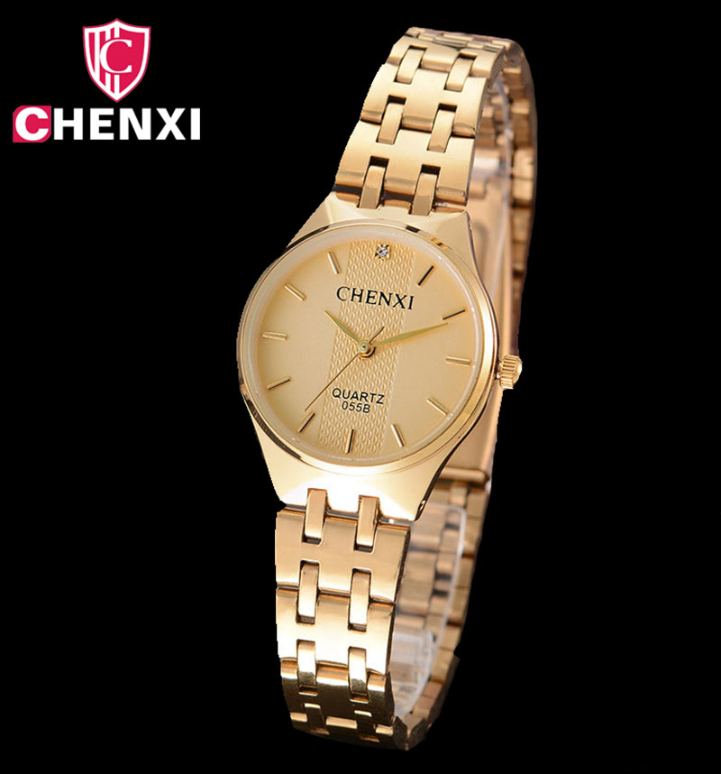 Luxury Woman Gold Watch Stainless Steel Simple Minimalism Retro Antique Lady Casual Wristwatch Golden Female Clock