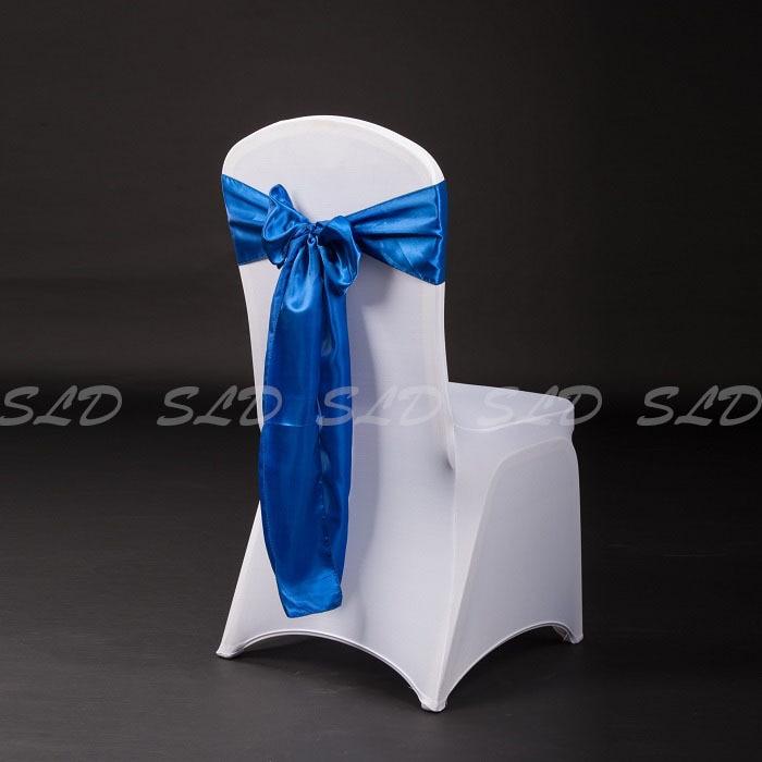 Popular chair wedding decoration buy cheap chair wedding 150pcs 7108 royal blue satin chair bows wedding decoration supplieschina junglespirit Choice Image