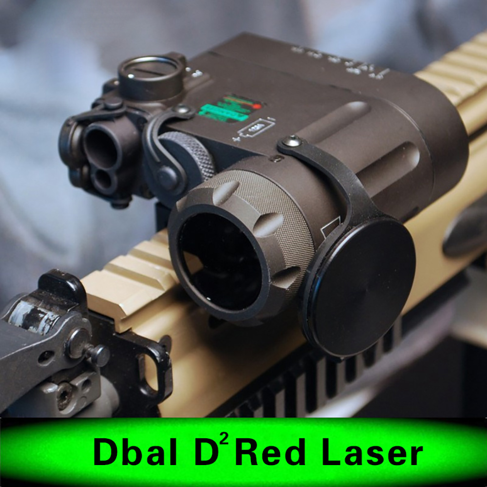 WIPSON Airsoft Flashlight IR Laser Led Torch DBAL-EMKII w/ Multifunction Tactical IR illuminator DBAL-D2 Battery Case sinairsoft tactical peq 15 red laser with white led flashlight torch ir illuminator for airsoft hunting outdoor