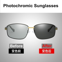 2019 Sunglasses Men Polarized Rectangle Driving Sun Glasses Photochromic Grey Luxury Vintage Plus Size