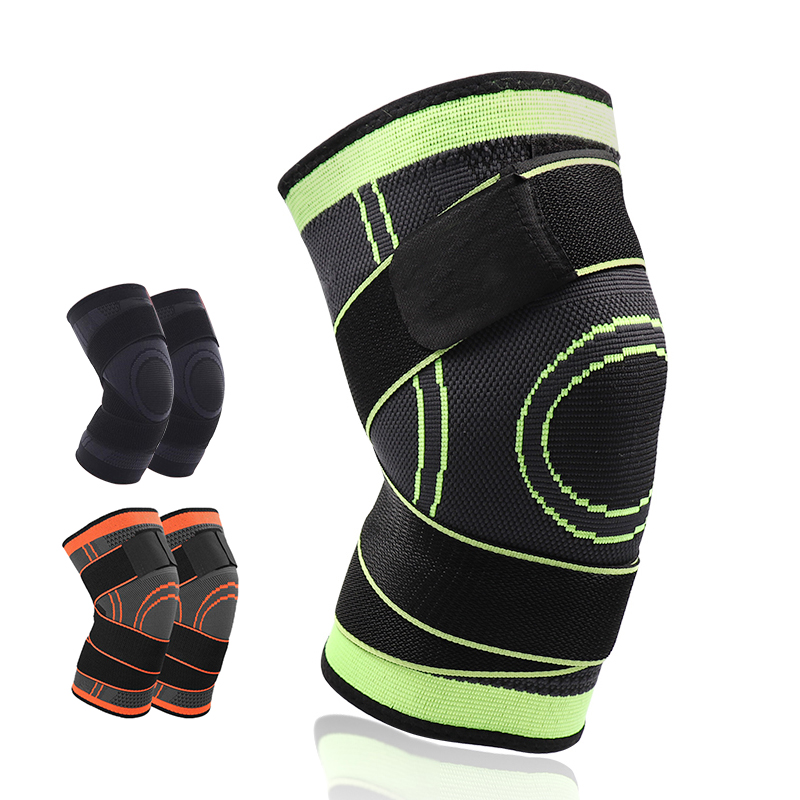 4XL baloncesto directo senderismo ciclismo rodilla rodillera soporte 3D tejido presurizado correas vendaje deportes de rótula guardia 1 unid