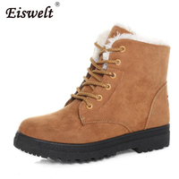EISWELT Women Winter Boots Plus Size Snow Boot Female Ladies Boots Women Ankle Boots Casual Shoes