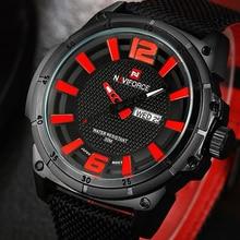 2016 hombres de la marca naviforce moda deportes relojes hombres 3d reloj de pulsera de cuarzo reloj de hombre correa de nylon militar del ejército relojes de pulsera