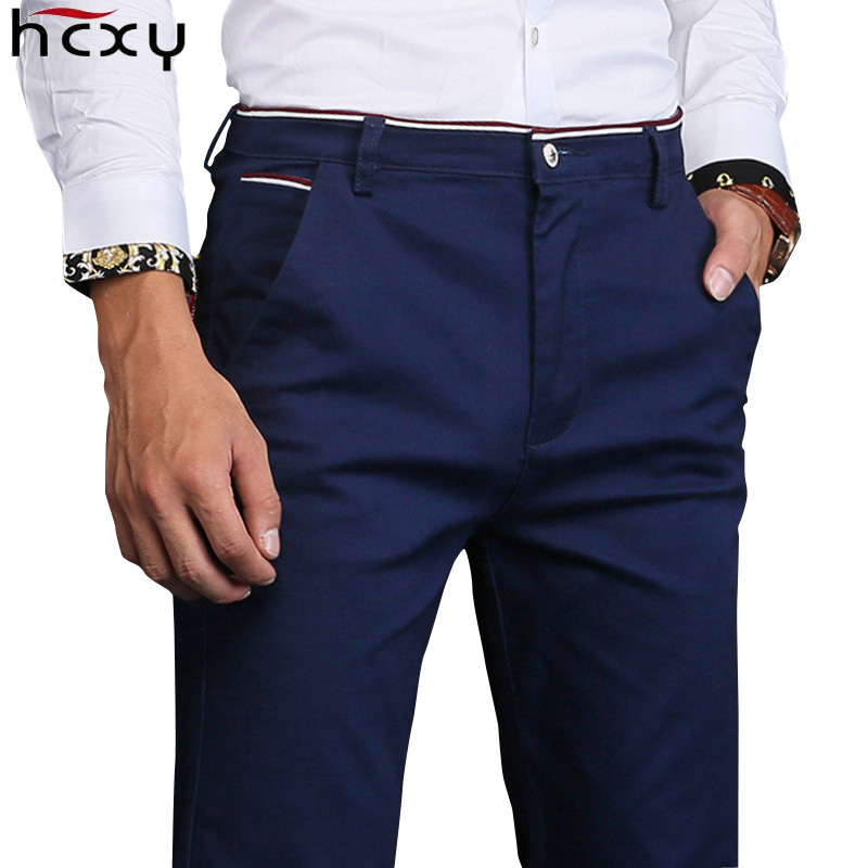 New Fashion Mens Casual Pants High Quality Brand Work Pants Male Clothing Cotton Formal Trousers Men Size 36 38