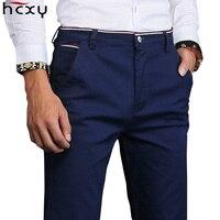 HCXY 2019 Новая мода Для мужчин s Повседневное брюки для Для мужчин брюки мальчиков высокое качество работы штаны мужские хлопковые формальный ...