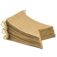 METABLE (30 Pcs) Burlap Banner, DIY Party Decor for Birthday, Wedding, Baby Shower and Graduation, 29ft