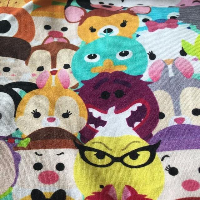b0e0984df00 kawaii 50*150cm baby cartoon cotton stretch jersey digital print fabric DIY  baby sewing clothing fabric