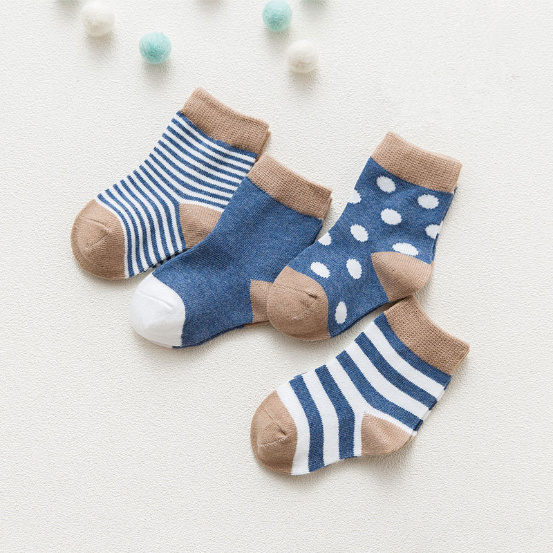 4PCS/LOT Joyo roy New autumn winter explosion models children socks baby absorbent sweat breathable short socks dj0114R