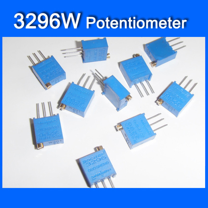 200pcs 3296X 101 100 Ohm Trim Pot Trimmer Potentiometer Variable Resistor 3 Pin
