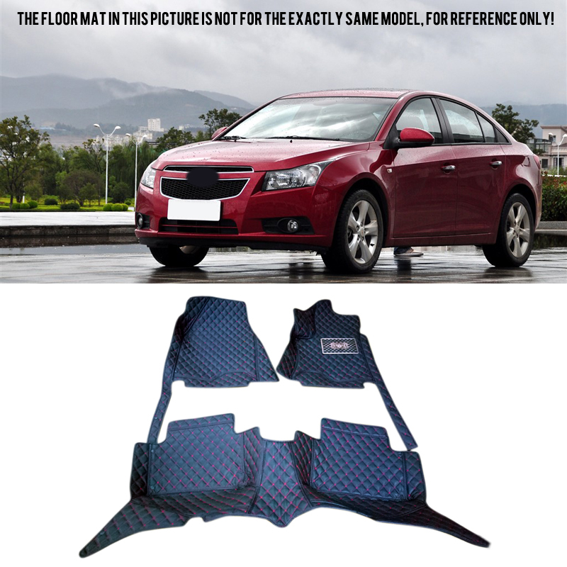 Car Accessories Inner Floor Mats Carpets Foot Pads Protector Cover For Chevy Chevrolet Cruze 2009-2014 car styling head light lamp headlight eyebrow eyelid cover trim chrome decor strip sticker for chevy chevrolet cruze 2009 2014