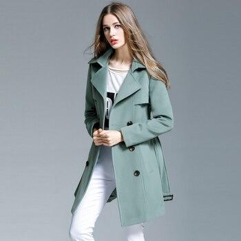 new 2017 Autumn  winter women Woolen outerwear female medium-long elegant cashmere overcoat plus size