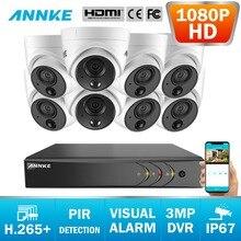 ANNKE 8CH 2MP Video Security System 3MP 5in1 H.265 + DVR Mit 8X1080 P HD TVI Outdoor Wetter dome Kamera CCTV Überwachung