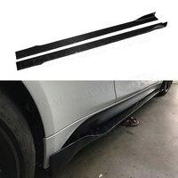 Универсальный автомобильный углеродного волокна дверь протектор подбородка комплект гвардии сбоку юбки фартуки для BMW M2 M3 M4 X5 X6 все автомоб