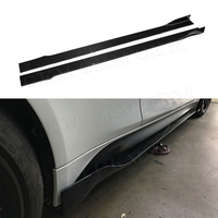 Universal Car Carbon Fiber Door Protector Chin Kit Guard Side Skirts Aprons for BMW M2 M3 M4 X5 X6 all cars