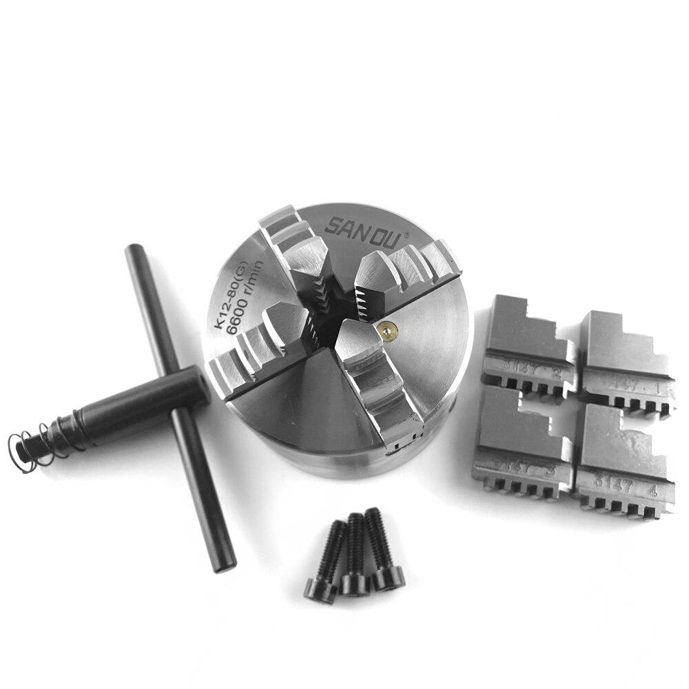 Auto-centrage de mandrin à 4 mâchoires de haute précision pour tour mécanique pour fraiseuse de forage