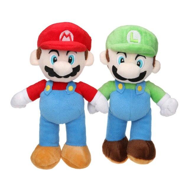 25cm super mario bros luigi plush toys mario brother soft stuffed