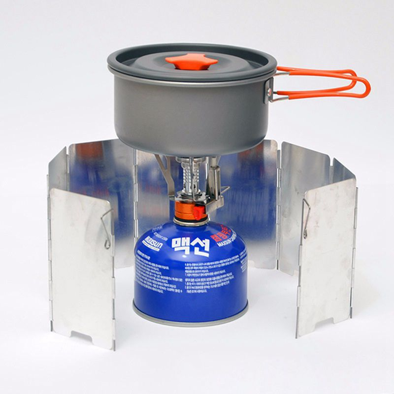 Portable Outdoor Cooking Camping Foldable Solid Alcohol Burner Wax Stove CS
