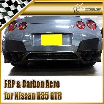 Xe-styling Đối Với Nissan R35 GTR 2008 Carbon Sợi Zele Phong Cách Phía Sau Môi