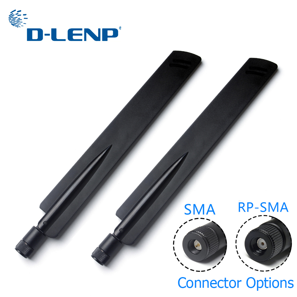 1 Pair Dlenp 2.4Ghz Wireless WIFI Router Antenna Aerial Booster 18 Dbi SMA/ RP-SMA Optional AP Bridge WLAN Router Connector