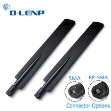 1 пара Dlenp 2,4 ГГц беспроводной wifi маршрутизатор антенный усилитель 18 dbi SMA/RP-SMA дополнительный мост Точки доступа WLAN соединитель фрезерной головки