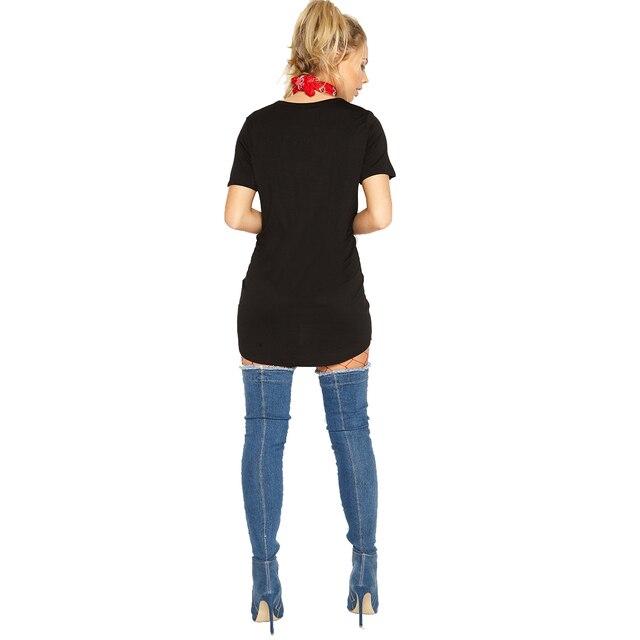 Punk Dress Hot Ladies Ripped Graffiti T Shirt Dress Kendall Jenner Girls Tunic Cotton Summer Mini Sexy Black Dresses Hiphop Top 1