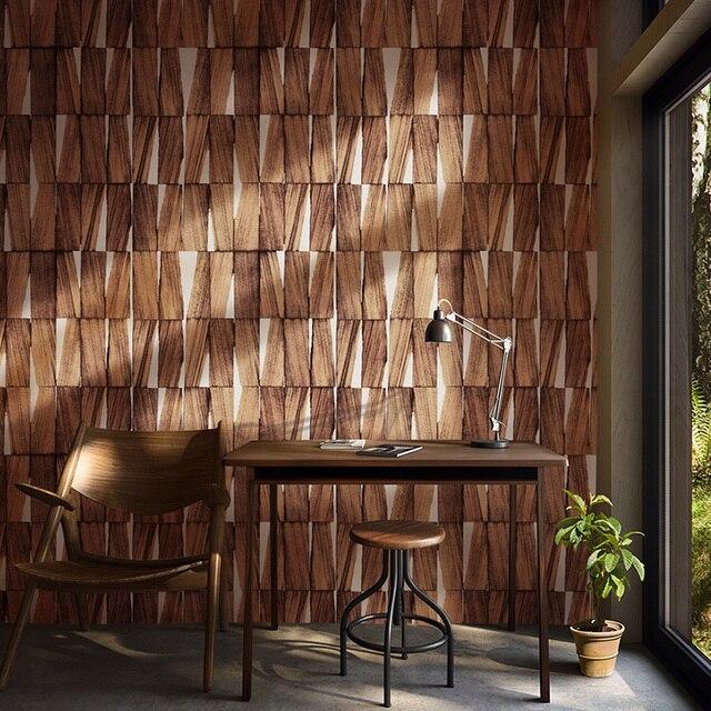 Nordic Vintage Rustic 3d Wood Wallpapers Home Decor Papel Murals