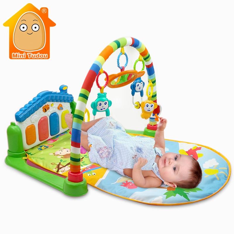 Minitudou Newborn Baby Multifunction Piano Fitness Rack