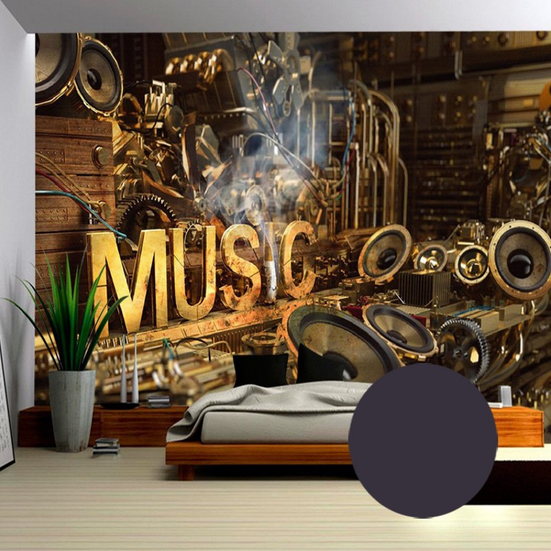 Us 1178 20 Offphoto Wallpaper 3d European Style Retro Music Wallpaper Ktv Cafe Restaurant Bar Bedroom Living Room Background Wallpaper Murals In