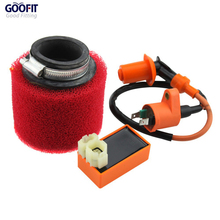 GOOFIT 6-pin CDI Ignition Coil and Air Filter for GY6 50cc 60cc80cc 125cc150cc ATV Dirt Bike Go Kart Moped Scooter Group-66