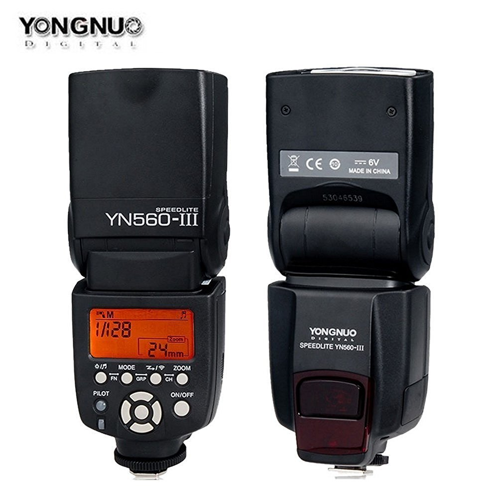 Yongnuo YN-560III YN560 III YN 560 III 2.4GHz Wireless Trigger Speedlite YN-560 III Flash For Canon Nikon Free shipping yongnuo yn 560 iv yn560 wireless ttl hss master radio flash speedlite 2pcs rf 605c rf605 lcd wireless trigger for canon camera