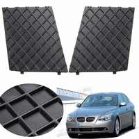 Paire de revêtement d'habillage de gril inférieur de maille de pare-chocs avant noir gauche droite pour BMW E60 E61 M pièces de rechange d'accessoires extérieurs