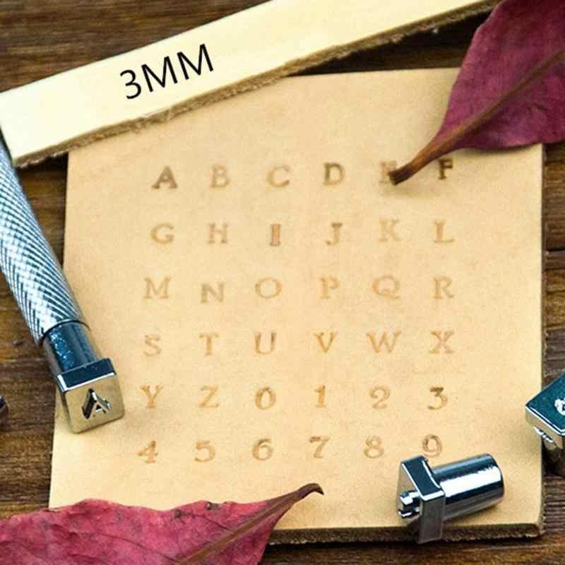 36 pcs Punch เครื่องมือตัวอักษรตัวอักษร Stamper ชุดปั๊มโลหะหนังเจาะเครื่องมือ DIY หนัง Craft เครื่องมือ