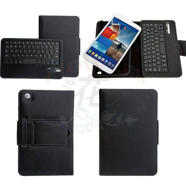 Новый Беспроводная <font><b>Bluetooth</b></font> Клавиатура кожа стенд Case smart cover Для Samsung Galaxy Tab T310/T311 <font><b>tablet</b></font> PC