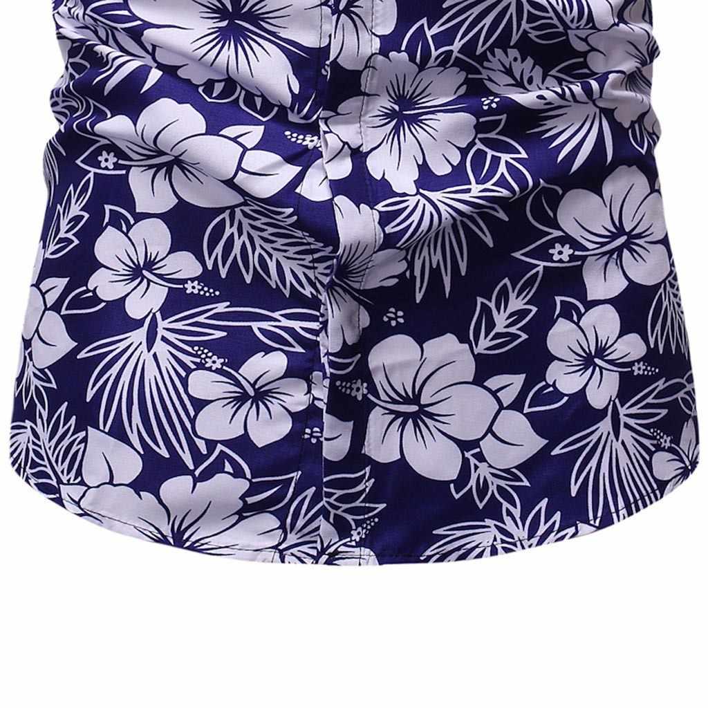 Verano Harajuku blusa hombre Kimono flamenco Floral hoja de Coco impreso Rebeca camisas hombre Hawaiano playa suelta abierto Stitch