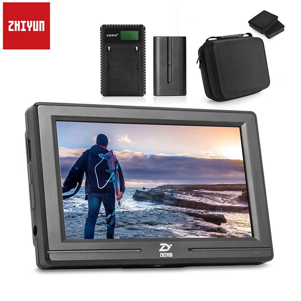 Zhiyun 5.5 Mini Caméra Affichage Moniteur avec Entrée HDMI Sortie IPS HD 1920x1080 + Batterie & Case pour Cardan Stabilisateur Grue 2 M