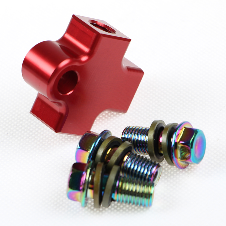 Motorcycle Pipe Union Fitting Tee Connector 3 Way Adapter Hydraulic Brake w// nut