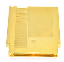 Gouden kleur Metal Plating 72 pins NES Game Cartridge Replacement Plastic Shell voor NES