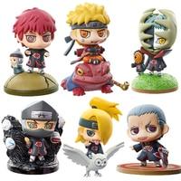 6 teile/satz Neue Naruto Gesetzt Hidan Kakuzu Sasori Halterungen Gaara Figuren Japan Anime Sammlung Spielzeug Action-figur Spielzeug Geschenk # E