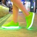 2017 New Led Light Shoes men Casual Breathable Luminous Tenis Con Luz Schoenen Met Licht Glowing Zapatillas Con Luces Usb Shoe