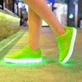 2017 Novos homens Sapatos Casuais Respirável Tenis Luminoso do Diodo Emissor de Luz Schoenen Conheceu Con Luz Licht Brilhante Zapatillas Con Luces Usb sapato