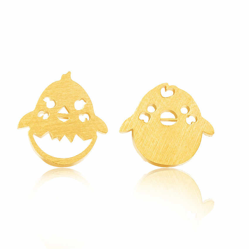 Easter Cute Chick Stud Earrings Minimalist Stainless Steel Animal Cartoon Chicken Orecchini Children Statement Jewelry Bijoux