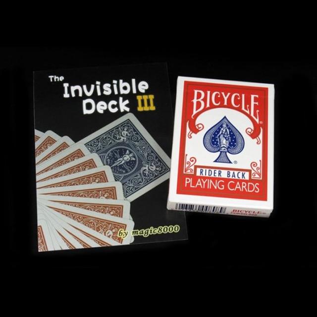 The Invisible Cubierta de Bicicletas Tarjetas de trucos de magia Trucos de Magia Props Juguetes close up trucos de magia, mentalismo, calle, comedia 81120