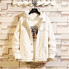 Spring New Denim Jacket Men Fashion Solid Color Casual Denim Jacket Ma