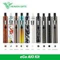 Original joyetech ego kit de início rápido 1500 mah 2 ml aio aio Vaping Kit Novas Cores w/BF SS316-0.6ohm Cabeça Eletrônico Cig Vape caneta