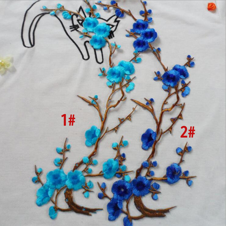 Factory Outlet 8 Colors Computer Embroidery Plum Cloth Patch Patch