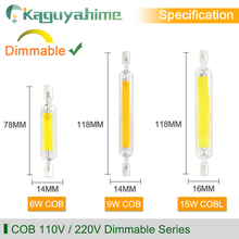 =(K)=   R7S Lamp LED Bulb 78mm 118mm 135mm Corn Dimmable Lamp AC 220V 110V Replace Halogen Lamp For LED Floodlight Spot Light